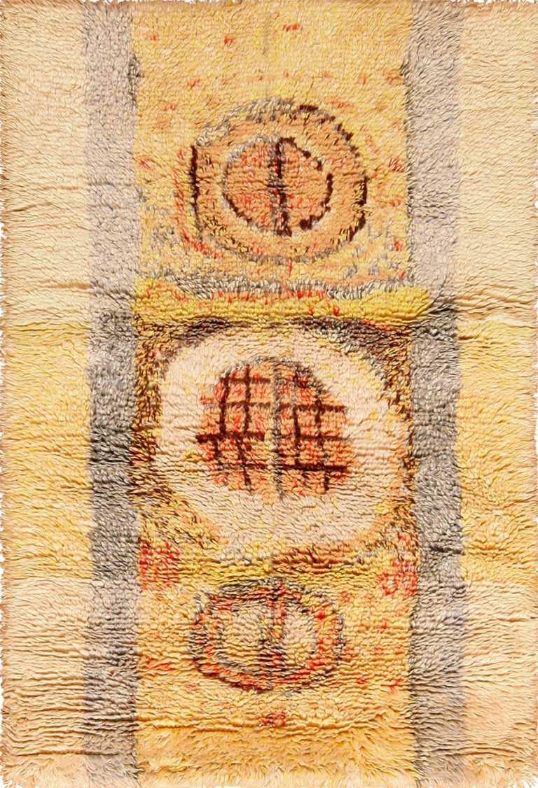 leen kaisa designed vintage rya scandinavian rug 49261 Nazmiyal