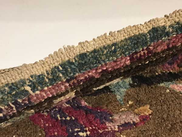 Details of the looped Mystery Rug! Nazmiyal Collection