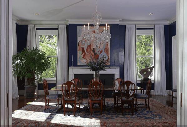 Joe Biden's dining room, Nazmiyal Contributes Antique Persian Rug