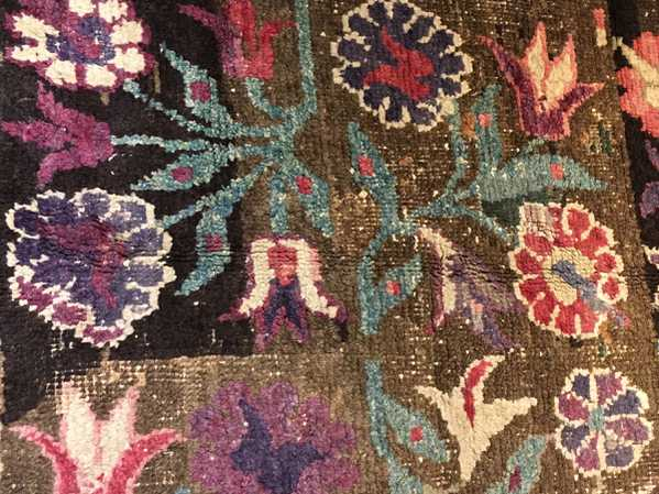 Poppy Details on the Mystery Rug!