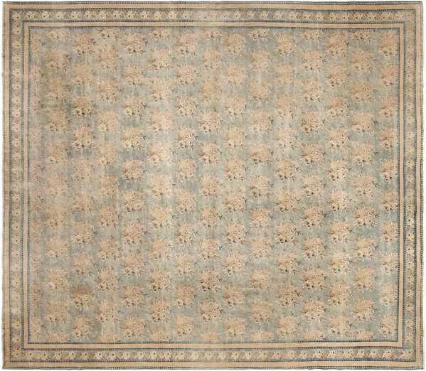 Gray Blue Indian Agra Rug, Nazmiyal
