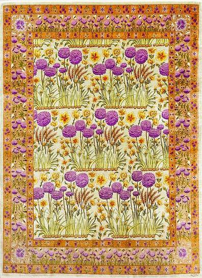Persian Luxury Silk Rug by nazmiyal