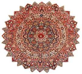 round antique khorassan persian rug 49255 Nazmiyal