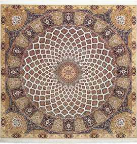 square gonbad design vintage tabriz persian rug 51075 Nazmiyal