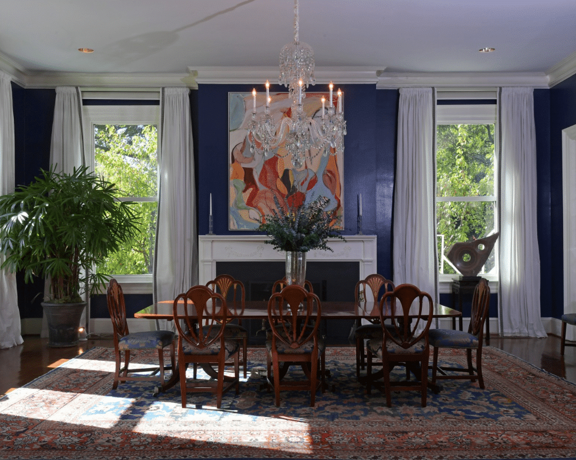 Vice President's Residence, Joe Bidden, Dining Room, Nazmiyal Antique Rugs