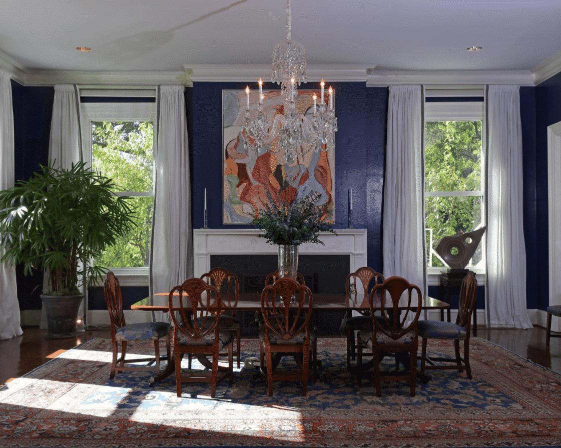 Vice President's Residence, Joe Bidden, Dining Room, Nazmiyal Antique Rugs