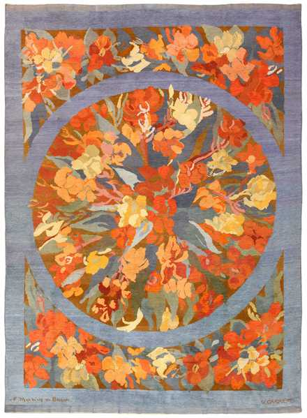 Vintage French Art Deco Rug by Frédéric Marius de Buzon, Nazmiyal