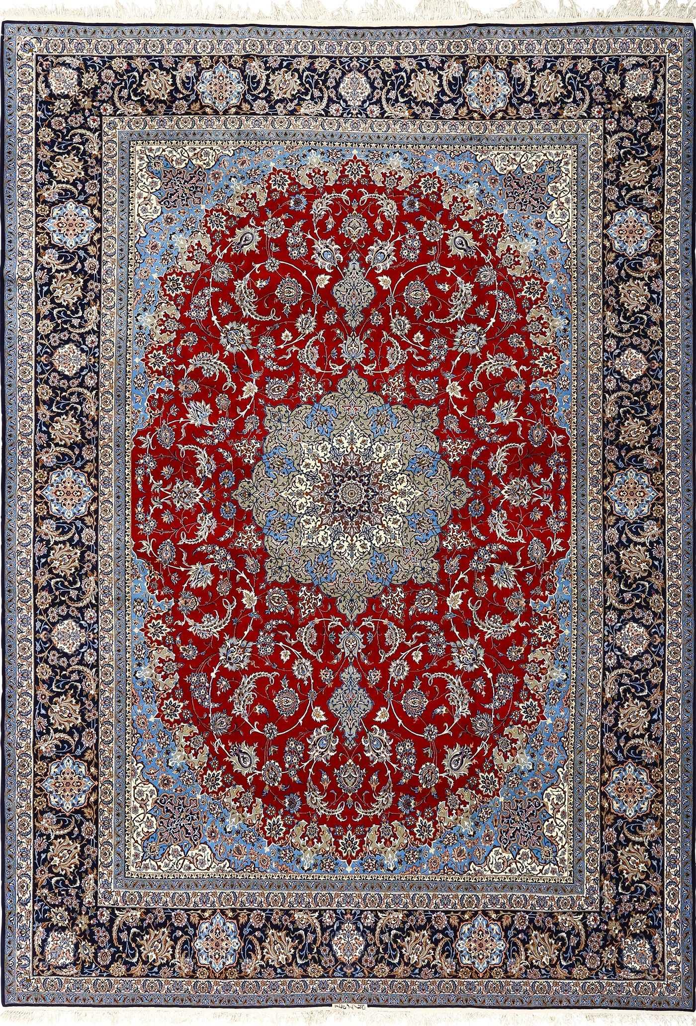 Beautiful Vintage Isfahan Persian Rug 51090 By Nazmiyal