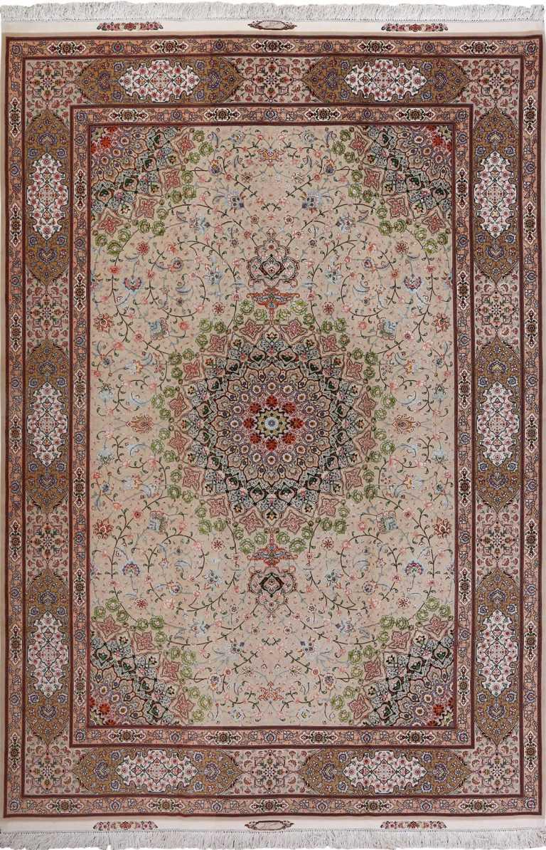vintage taupe background tabriz persian rug 51108 Nazmiyal