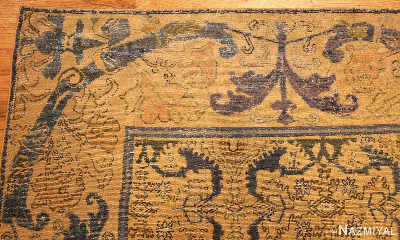 17th century cuenca spanish rug 49270 corner Nazmiyal