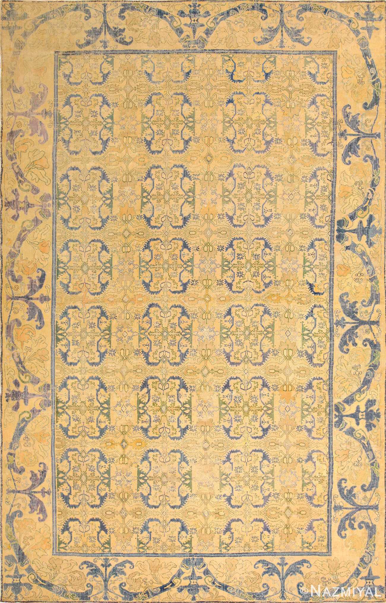 17th century cuenca spanish rug 49270 Nazmiyal