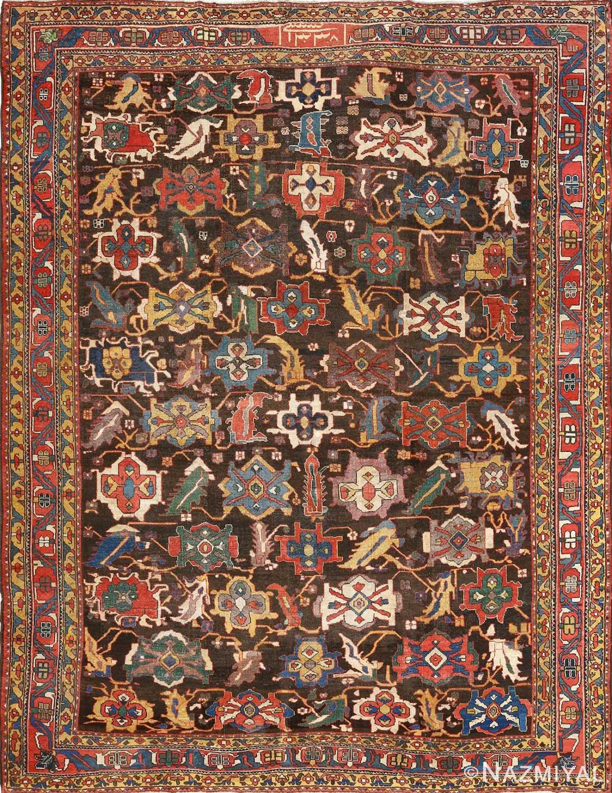antique bakhtiari persian rug 51065 Nazmiyal