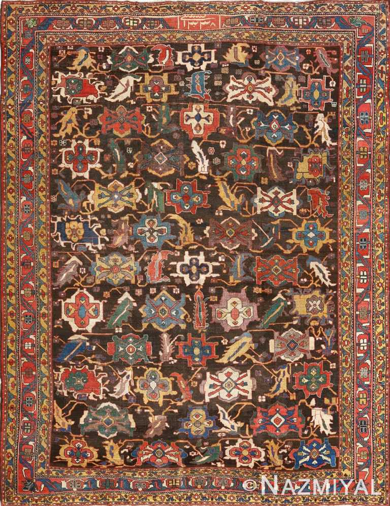 antique bakhtiari persian rug 51065 Nazmiyal