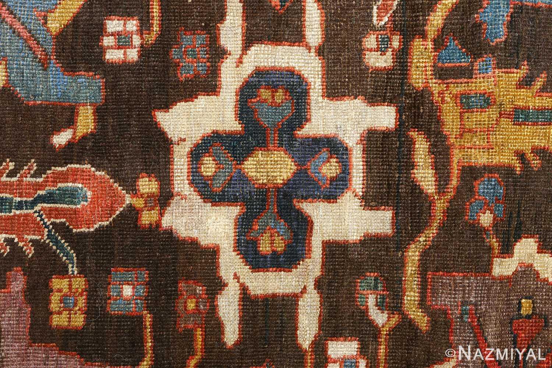 antique bakhtiari persian rug 51065 blue Nazmiyal