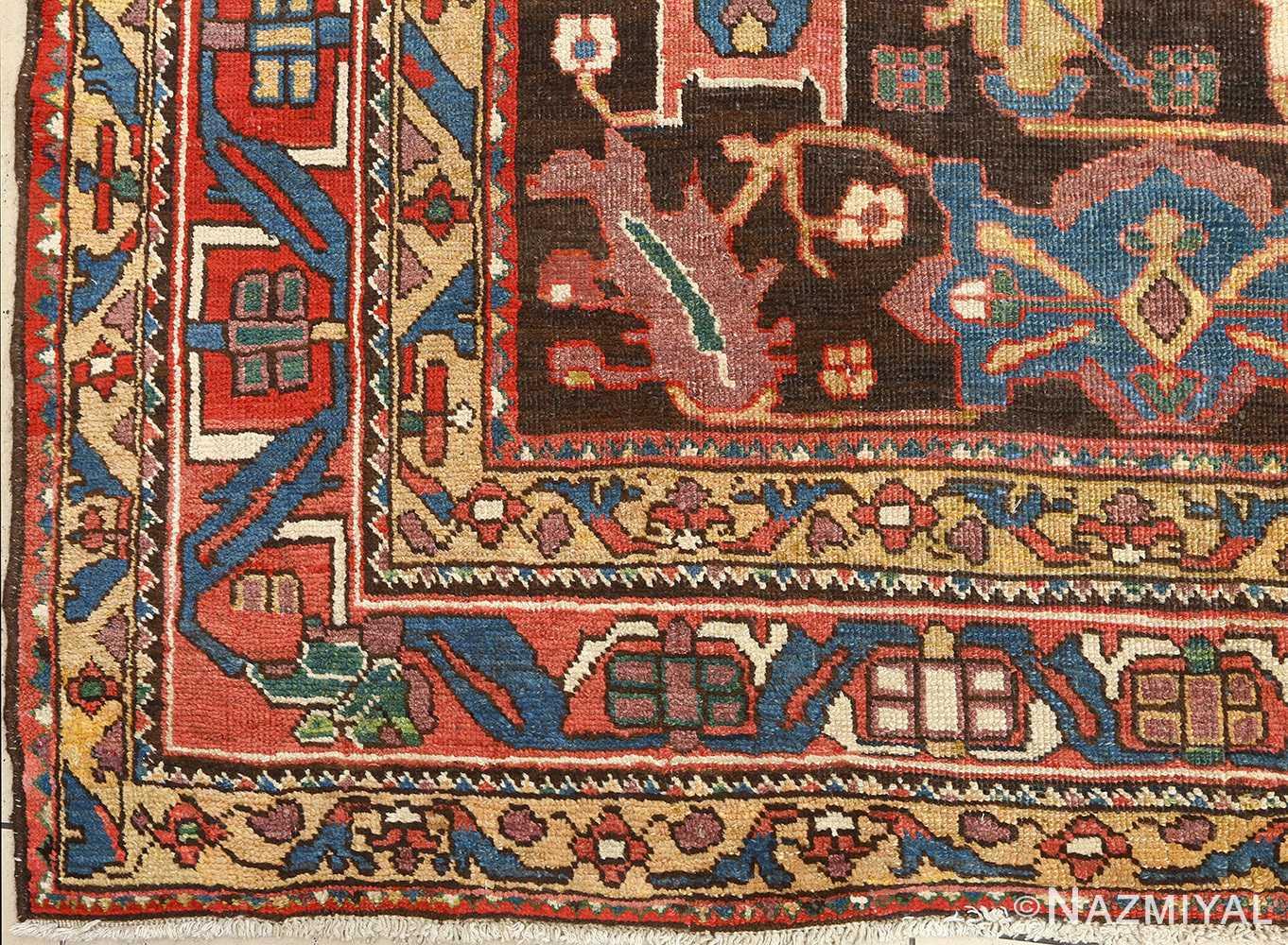 antique bakhtiari persian rug 51065 corner Nazmiyal