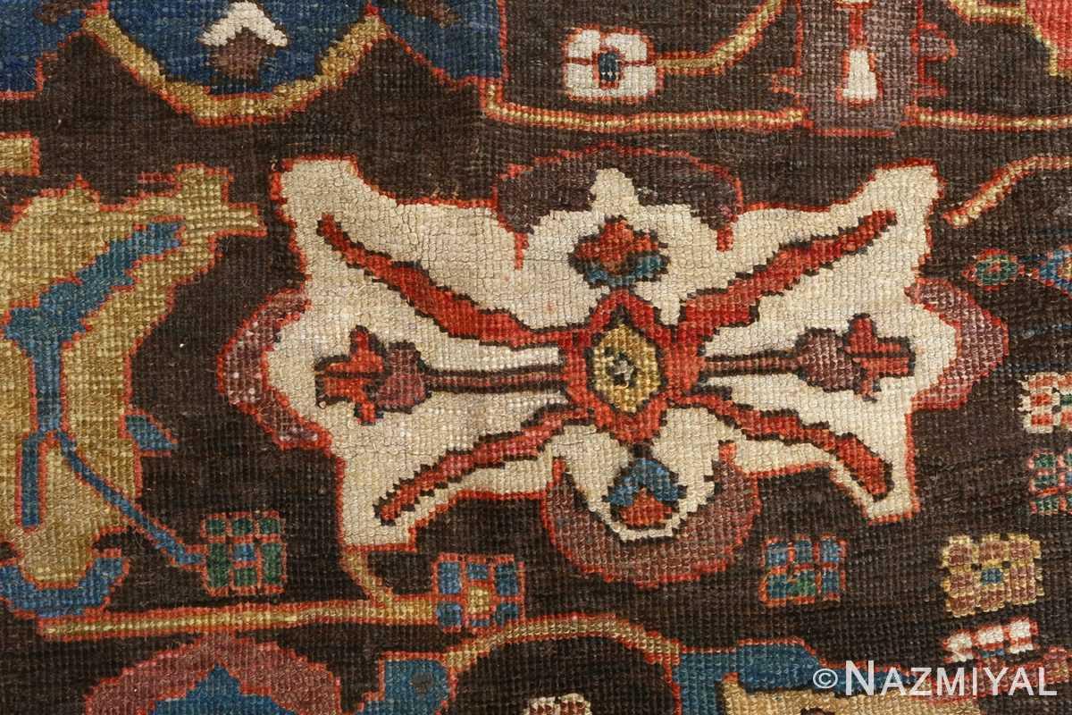 antique bakhtiari persian rug 51065 design Nazmiyal