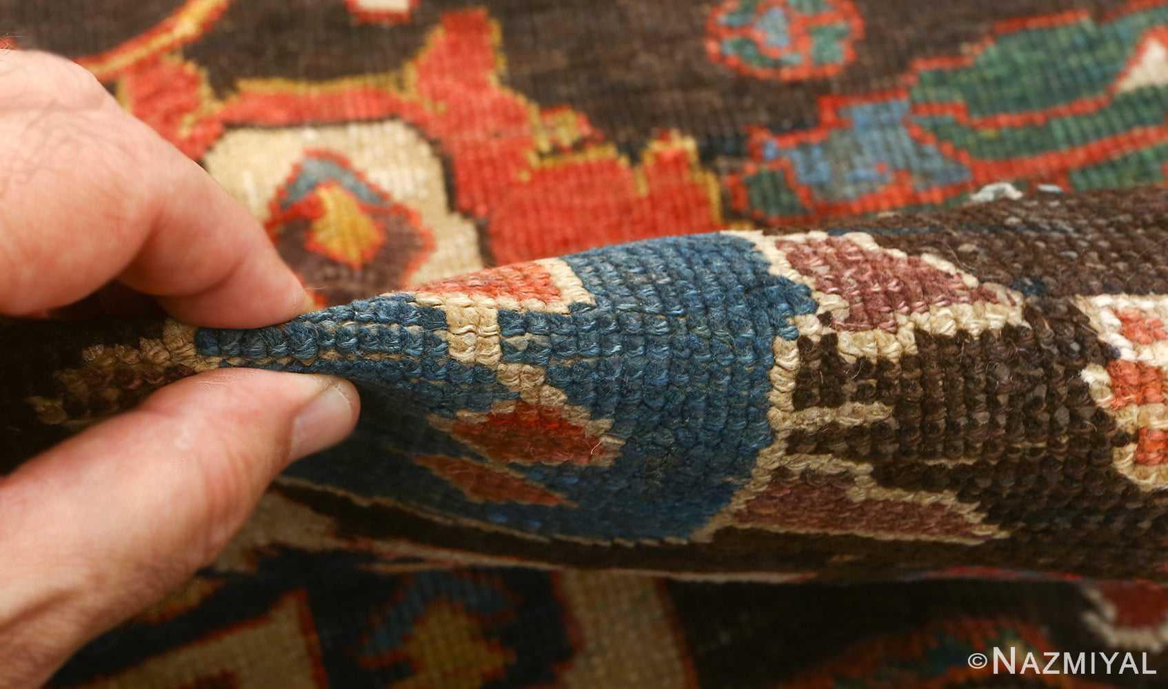antique bakhtiari persian rug 51065 pile Nazmiyal