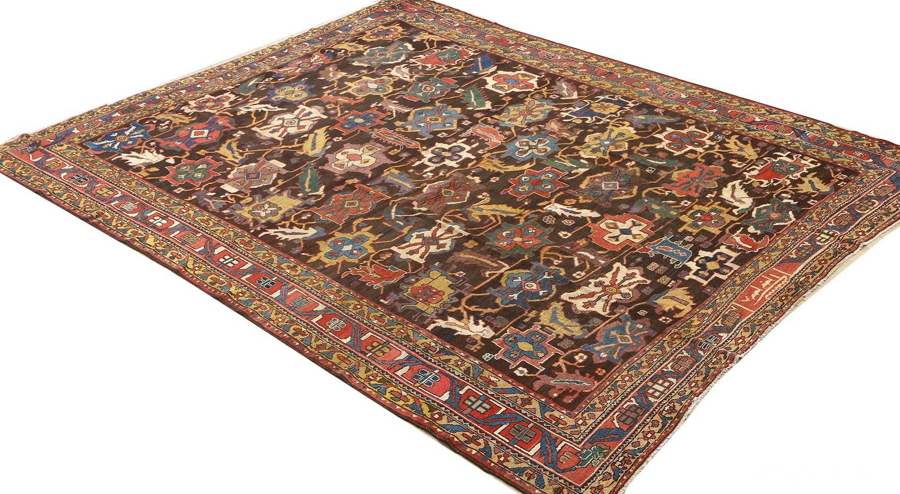 antique bakhtiari persian rug 51065 side Nazmiyal