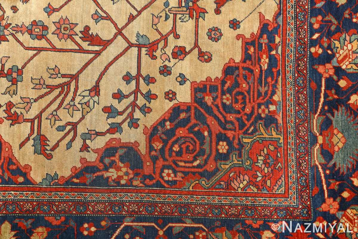 antique ivory background sarouk farhan persian rug 51094 design Nazmiyal