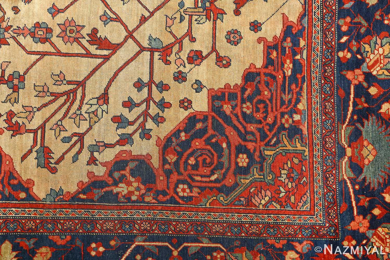 antique ivory background sarouk farhan persian rug 51094 design Nazmiyal