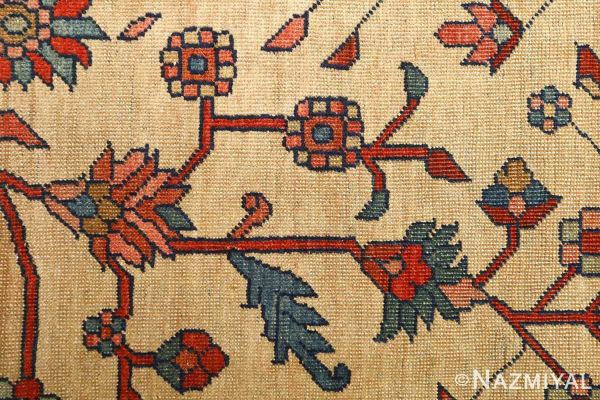 antique ivory background sarouk farhan persian rug 51094 flower Nazmiyal