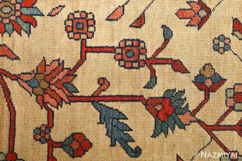 antique ivory background sarouk farhan persian rug 51094 flower Nazmiyal