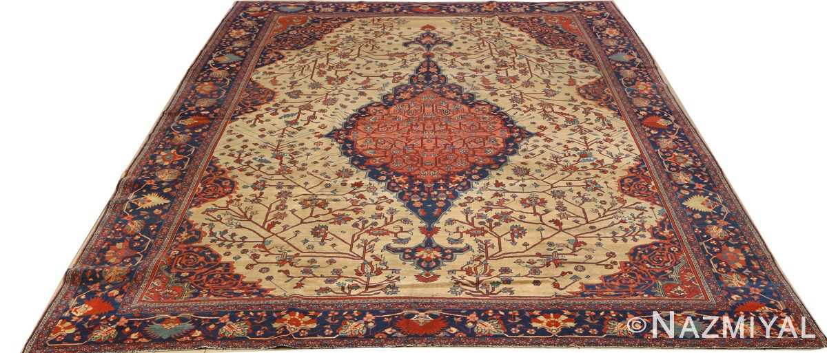 antique ivory background sarouk farhan persian rug 51094 full Nazmiyal