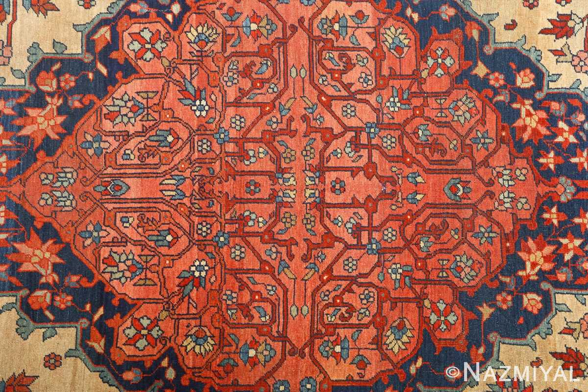 antique ivory background sarouk farhan persian rug 51094 middle Nazmiyal