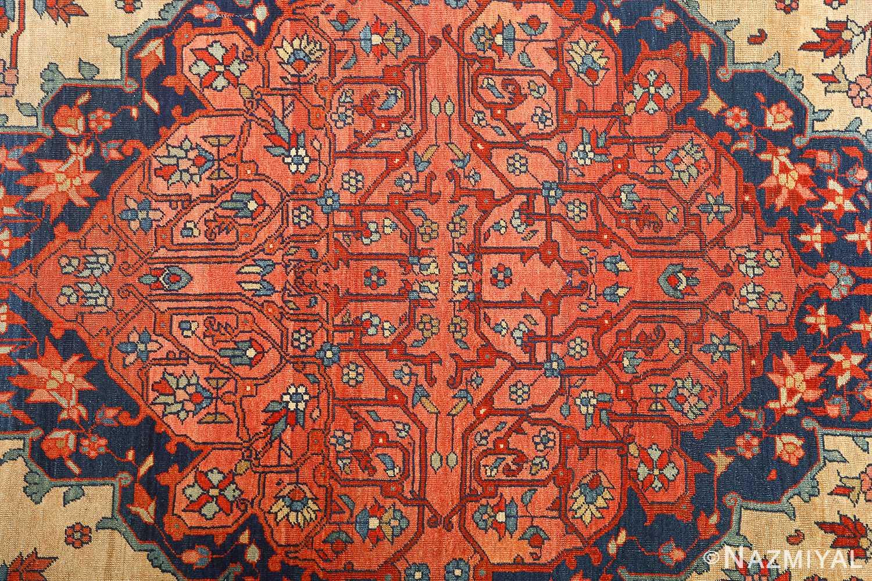 antique ivory background sarouk farhan persian rug 51094 middle Nazmiyal