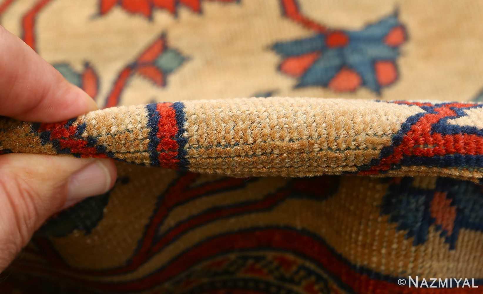 antique ivory background sarouk farhan persian rug 51094 pile Nazmiyal
