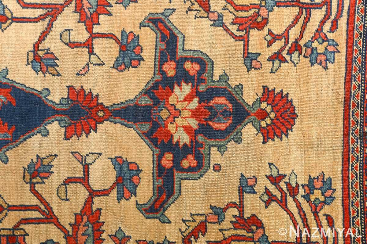 antique ivory background sarouk farhan persian rug 51094 top Nazmiyal