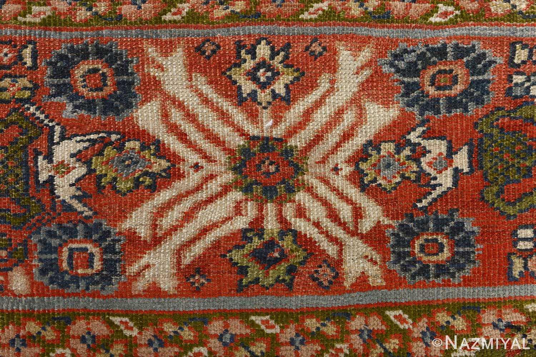 antique ivory background sultanabad persian rug 51101 blue Nazmiyal