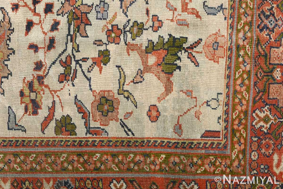 antique ivory background sultanabad persian rug 51101 design Nazmiyal