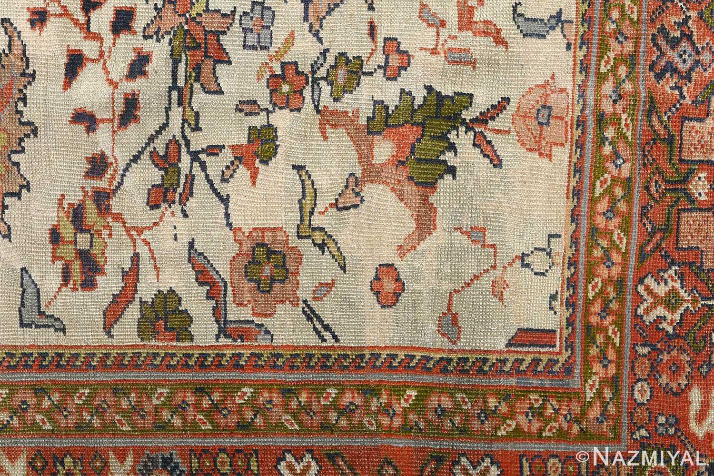 antique ivory background sultanabad persian rug 51101 design Nazmiyal