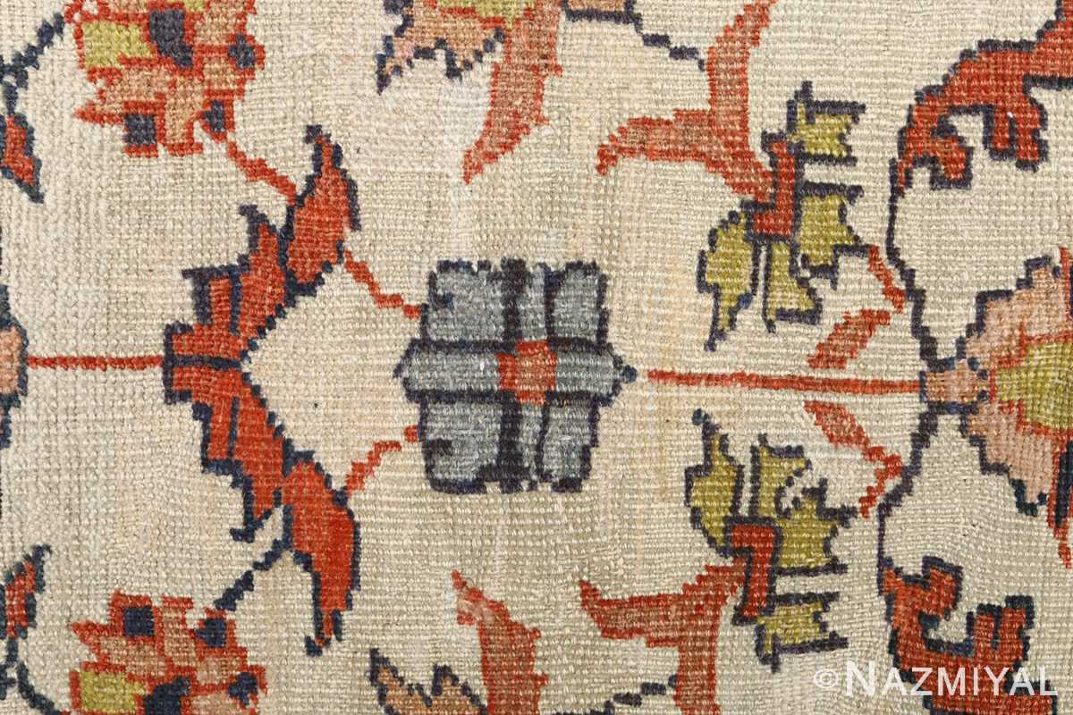 antique ivory background sultanabad persian rug 51101 flower Nazmiyal