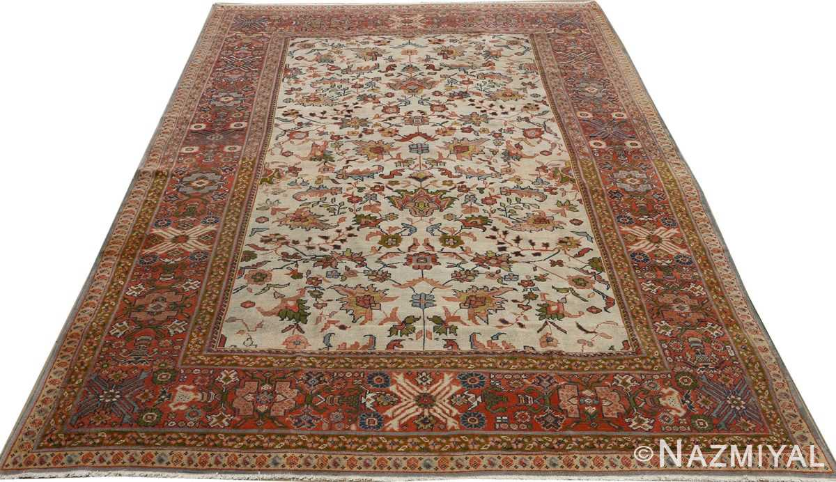 antique ivory background sultanabad persian rug 51101 full Nazmiyal