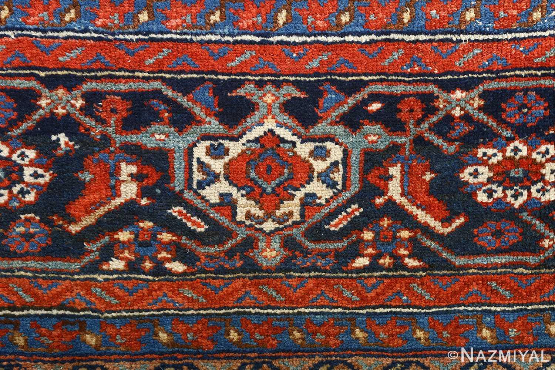 antique ivory senneh persian rug 51097 border Nazmiyal