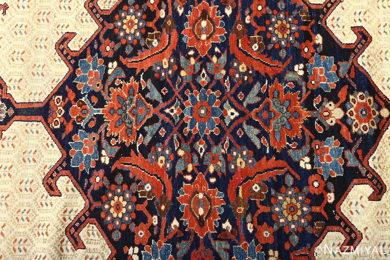 antique ivory senneh persian rug 51097 center Nazmiyal