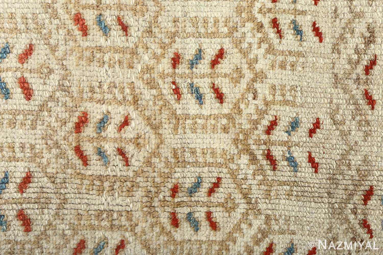 antique ivory senneh persian rug 51097 field Nazmiyal