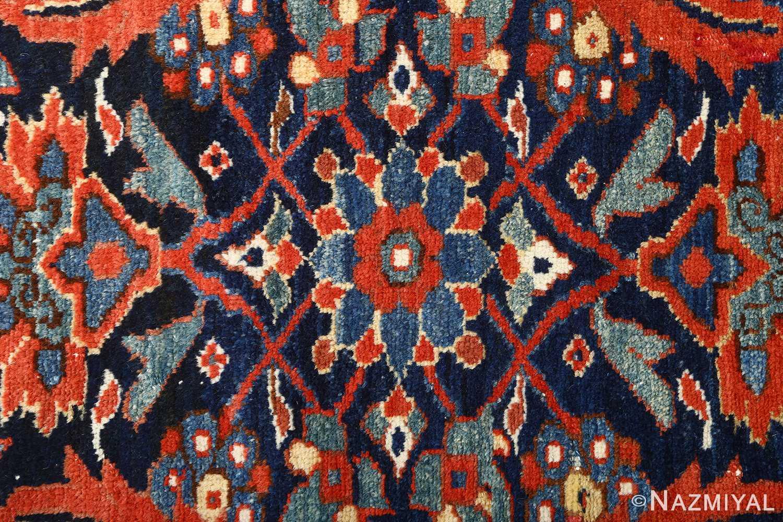 antique ivory senneh persian rug 51097 flower Nazmiyal