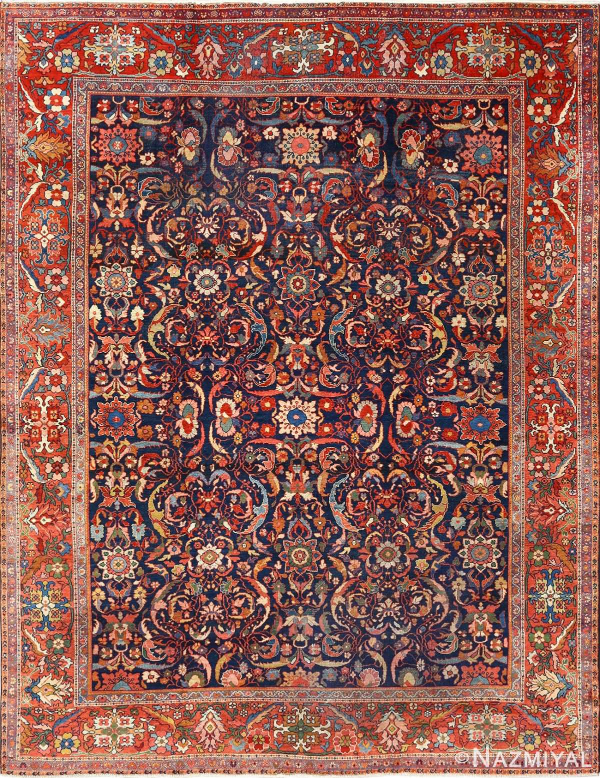 antique navy malayer persian rug 51096 Nazmiyal