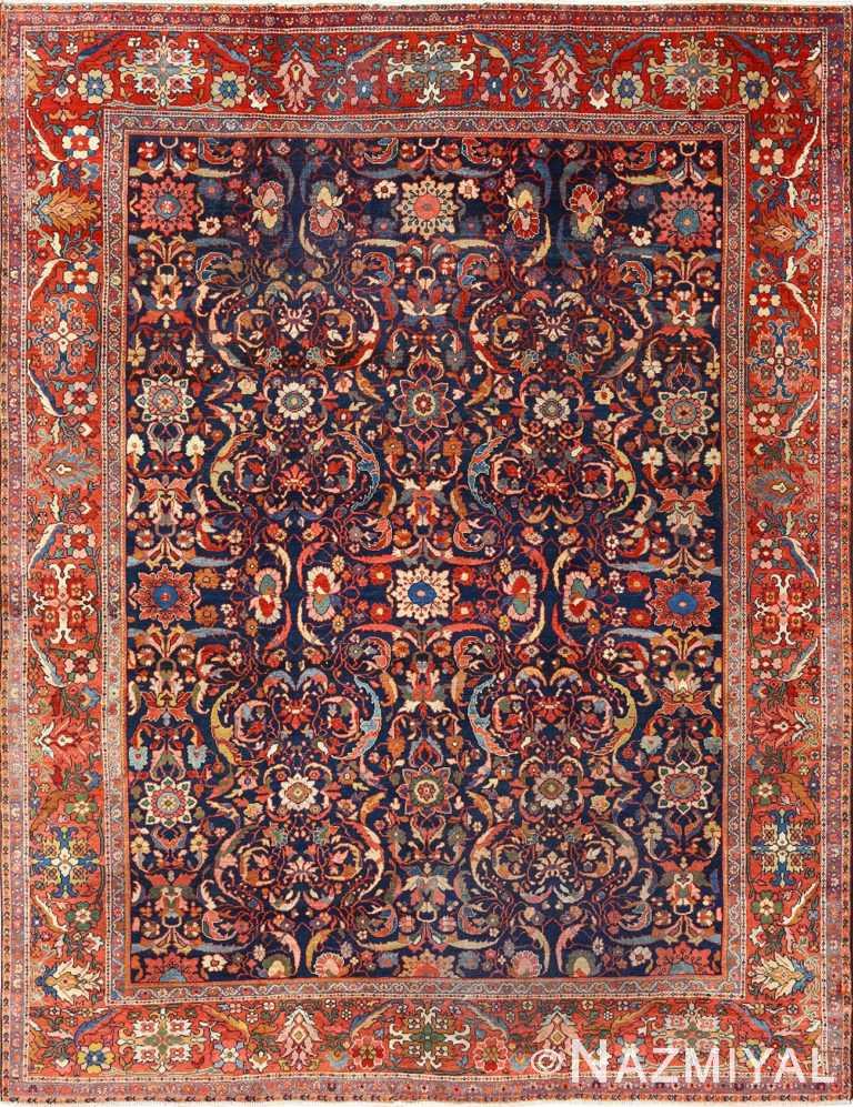 antique navy sultanabad persian rug 51096 Nazmiyal