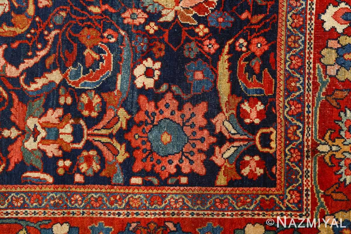 antique navy malayer persian rug 51096 corner Nazmiyal