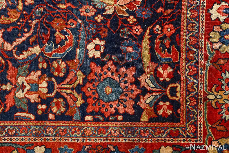 antique navy malayer persian rug 51096 corner Nazmiyal