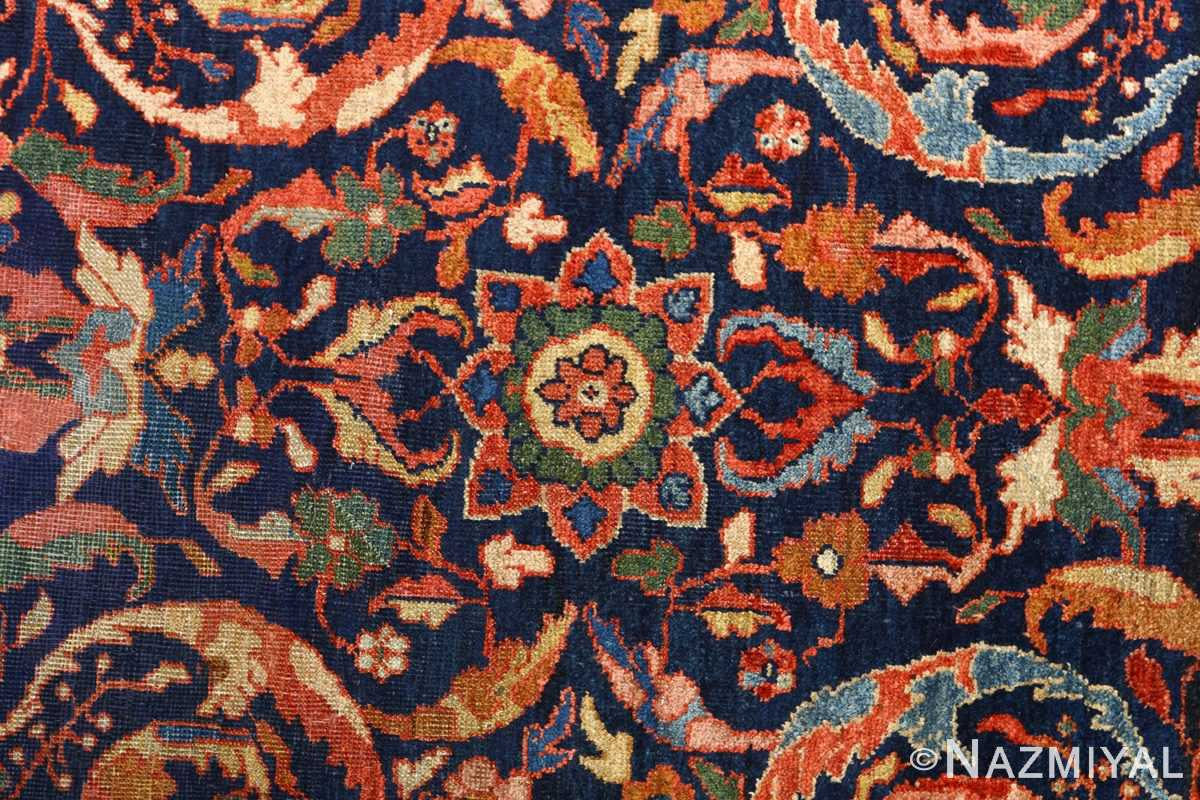 antique navy malayer persian rug 51096 field Nazmiyal