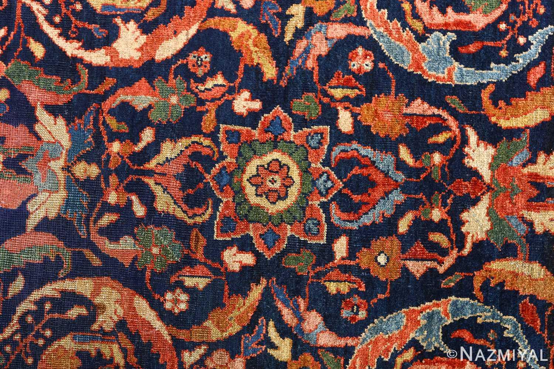 antique navy malayer persian rug 51096 field Nazmiyal