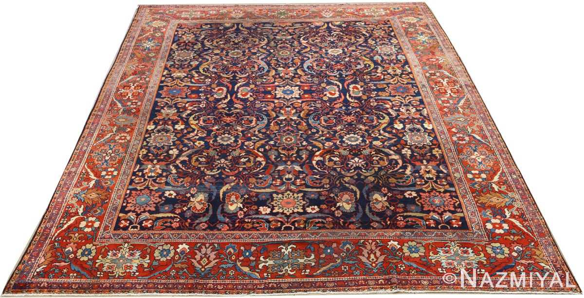 antique navy malayer persian rug 51096 full