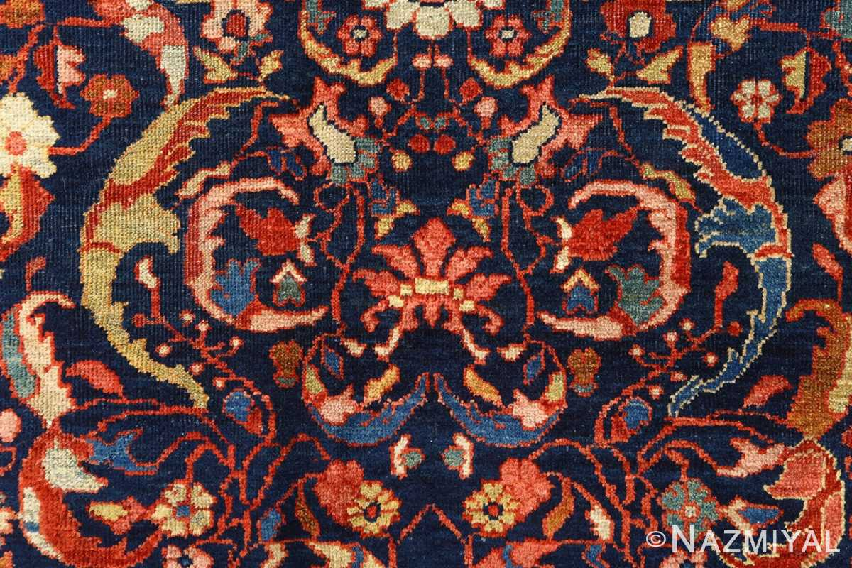antique navy malayer persian rug 51096 scrolls Nazmiyal