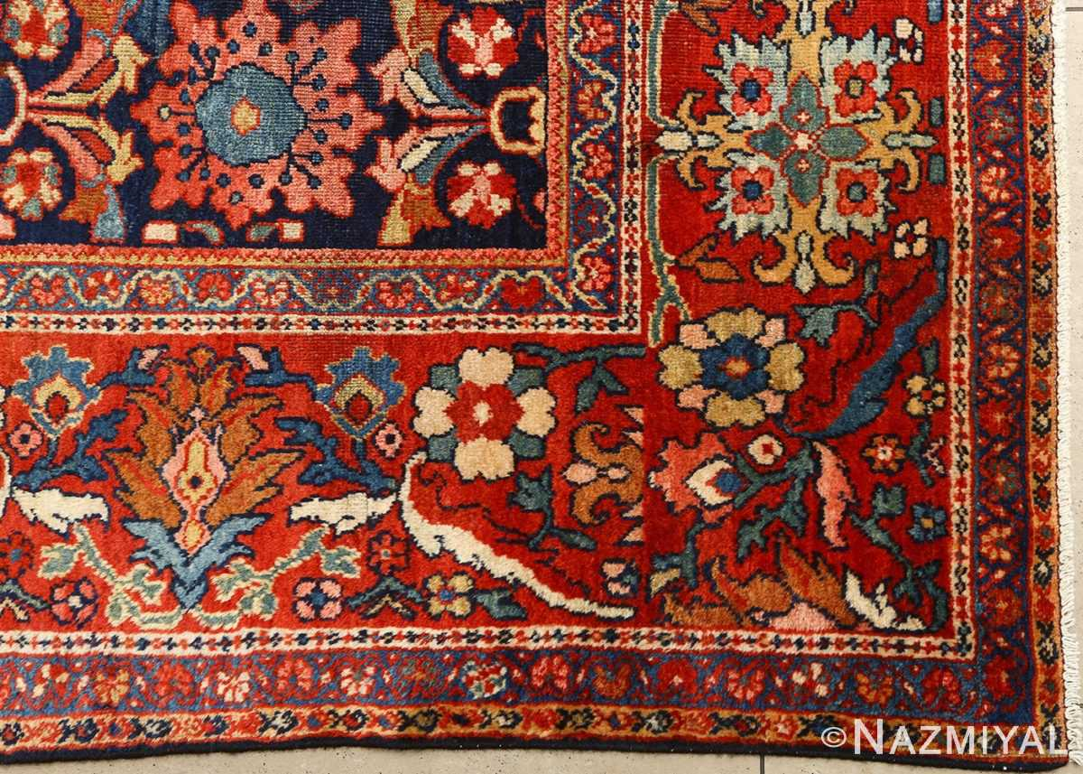 antique navy malayer persian rug 51096 side Nazmiyal