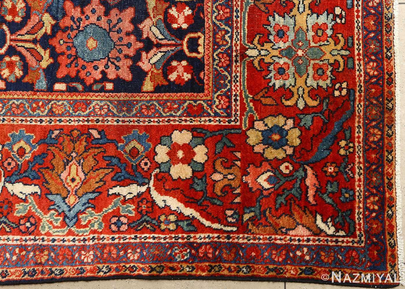 antique navy malayer persian rug 51096 side Nazmiyal